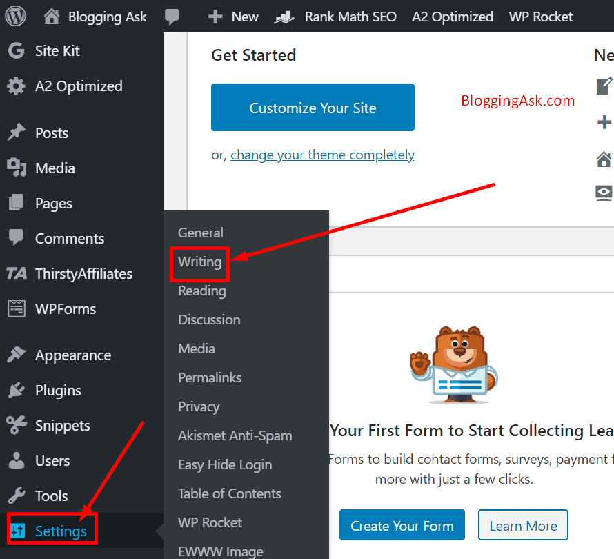 WordPress Setting Overview
