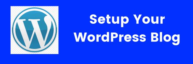 setup your wordpress blog