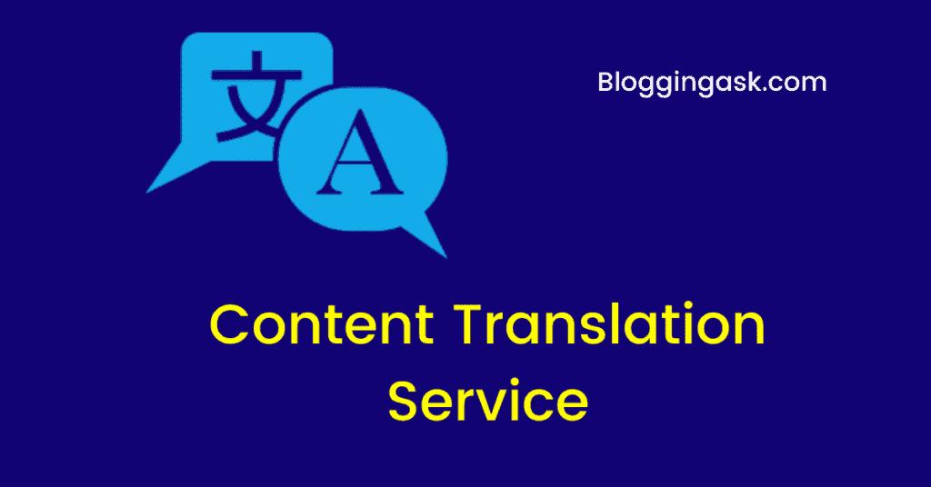 Content Translation Service