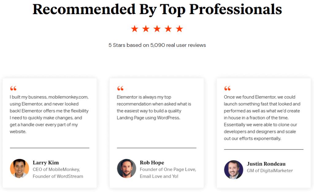 Elementor Pro reviews
