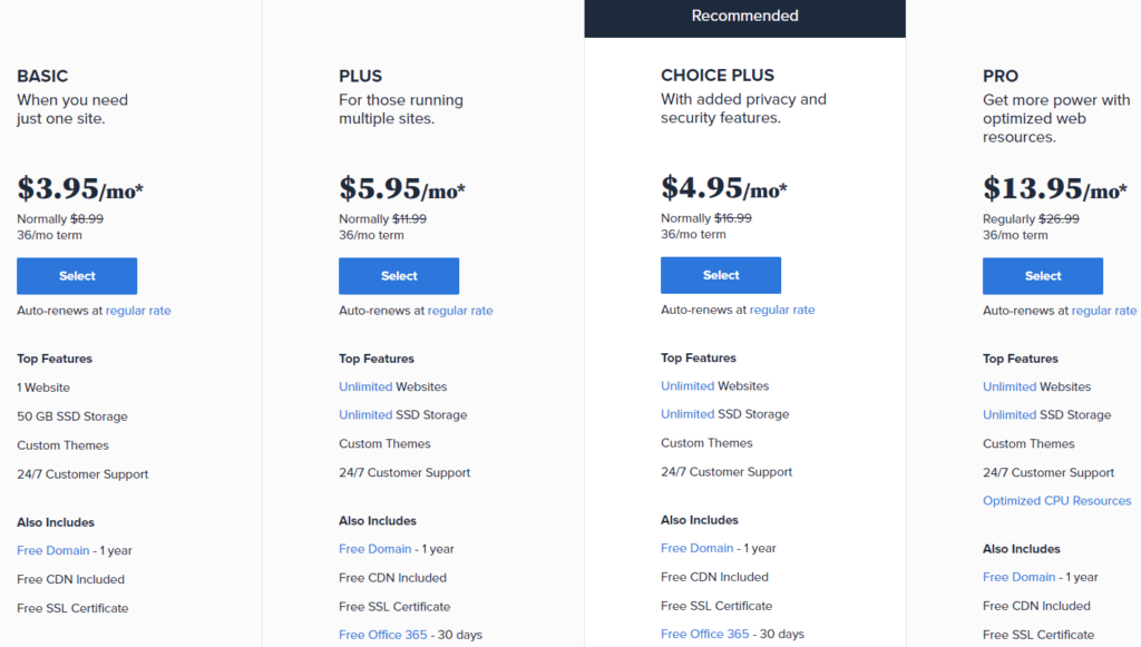 bluehost black friday pricing