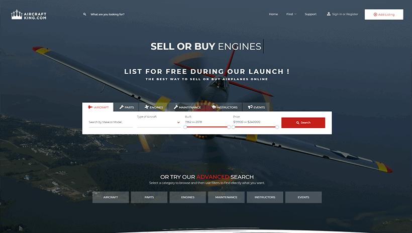 Aircraftking website