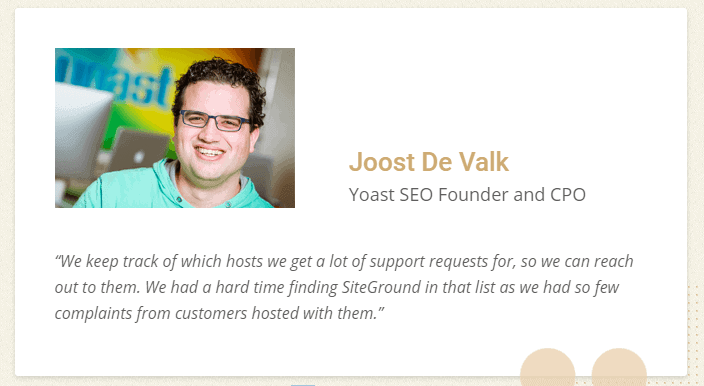Yoast founder about siteground