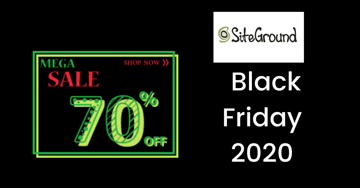 siteground black friday sale 2020