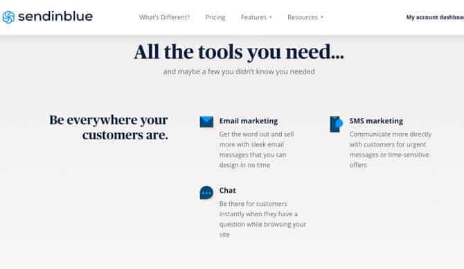 sendinblue free email marketing services