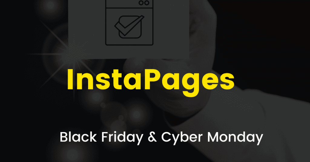 Instapages black friday sale