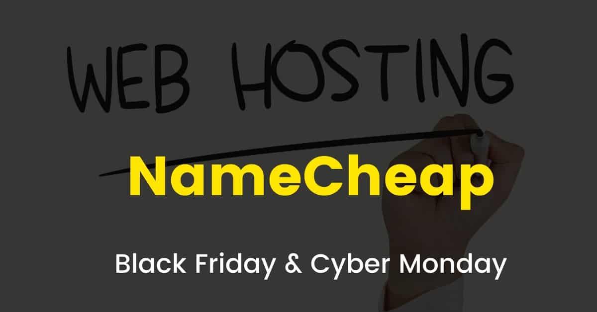 Namecheap black friday sale