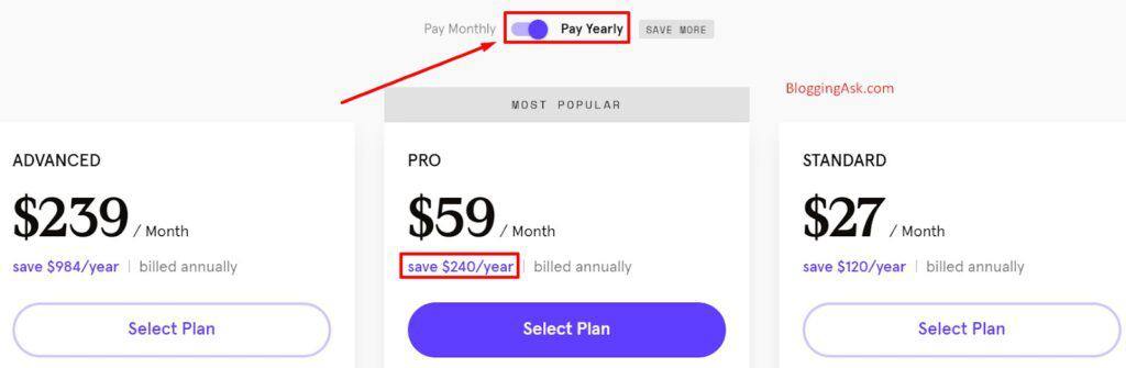 Pay annually for leadpages subscription