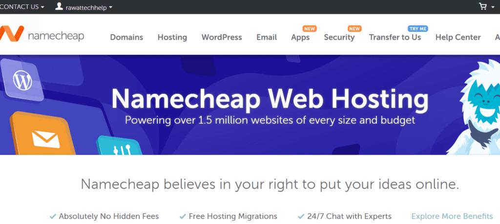 namecheap web hosting