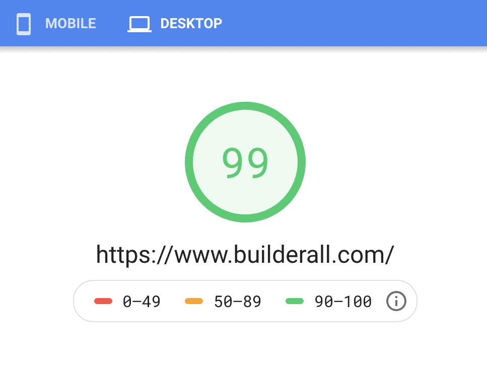 Builderall speed in google