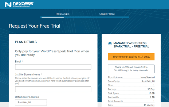 liquid web register free trial