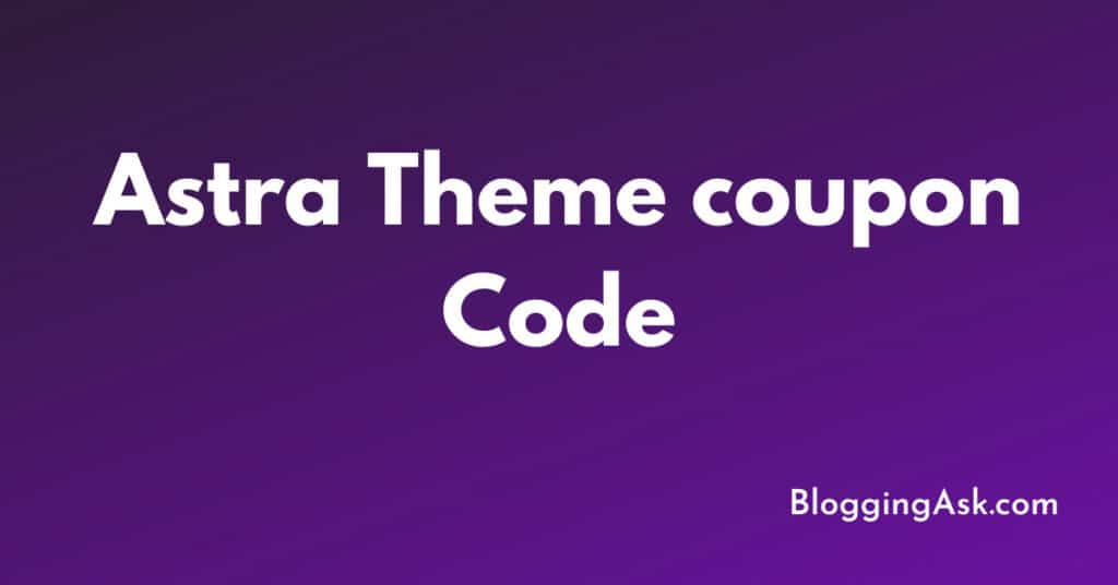 Astra Theme coupon Code
