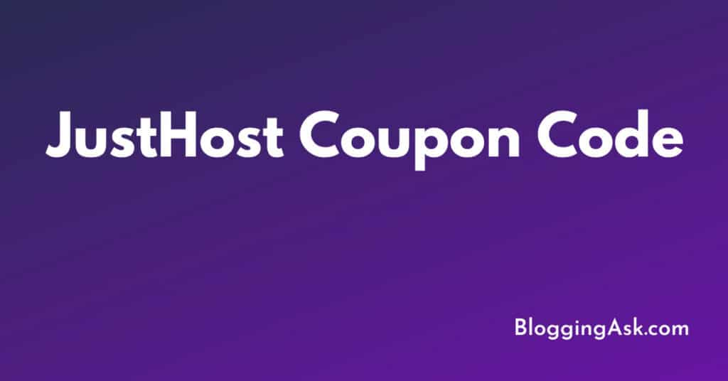 JustHost Coupon Code