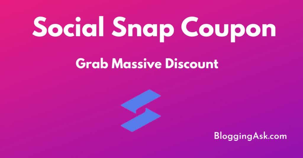 Social Snap Coupon Code