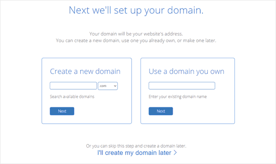 bluehost-set-up-domain
