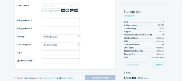 wp engine order page